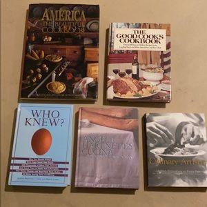 Bundle of 5 Cookbooks (mostly hardcover)